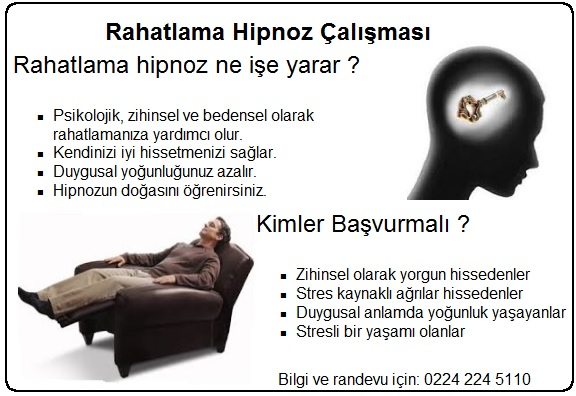 rahatlama hipnoz